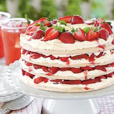 @Amanda Snelson Snelson Claire Rives, I think I'm craving summer food. But just LOOK at this! strawberry meringue cake.