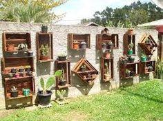 jardin maceteros de palets