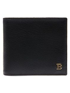 BALLY Metal B Leather Bifold Wallet. #bally #bags #leather #wallet #accessories #