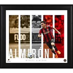Miguel Almiron Atlanta United FC Fanatics Authentic Framed x Player Panel Collage Atlanta United Fc, Major League Soccer, Display Case, The Unit, Baseball Cards, Fan 2, Collage, Glass Display Case, Display Window