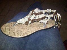 solicito curso de sandalias tejidas en macrame, porfis