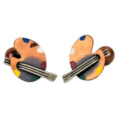 I pinned this Vintage Paint Palette Cufflink (Set of 2) from the Heirloom Giftables event at Joss and Main!