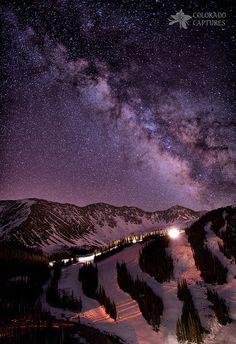 Milky Way over Colorado.
