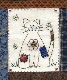 Lynette Anderson Free Motion Embroidery, Embroidery Stitches, Embroidery Patterns, Hand Embroidery, Fabric Cards, Fabric Postcards, Hand Applique, Applique Quilts, Small Quilts