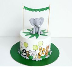 Ideia para bolo com animais da quinta pintados - Have Some Sugar