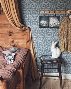 Boråstapeter Nora - Next Day Delivery, 4535 - 4537 Room Decor Bedroom, Girls Bedroom, Murals For Kids, Childrens Beds, Vintage Room, Traditional Bedroom, Cool Rooms, Beautiful Children, Decoration