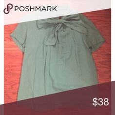 NWOT J crew bow blouse Never worn, wrinkled from storage. Size 6. I accept all reasonable offers. J. Crew Tops