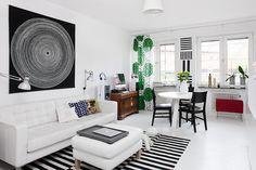 +++ Marimekko, Contemporary, Living Room, Wall Ideas, Rugs, Home Decor, Farmhouse Rugs, Decoration Home, Mural Ideas