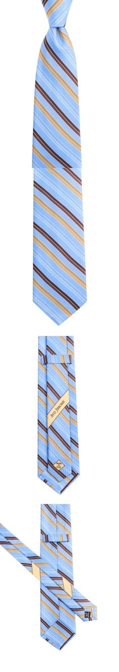 752f178d7962 Ties Cravats and Cummerbunds 105509: New Syd Jerome By Italo Ferretti 3.25  Striped Light Blue Woven Silk Neck Tie -> BUY IT NOW ONLY: $49.99 on eBay!