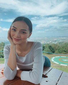 Image may contain: 1 person, sky, cloud, outdoor and closeup Kylie Verzosa, Filipino, Pop Culture, V Neck, Celebrities, Cute, Cloud, Sky, Outdoor