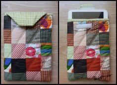 funda para tablet con retales de patchwork tablet case with patchwork #fabric Handmade by RoWuDesign