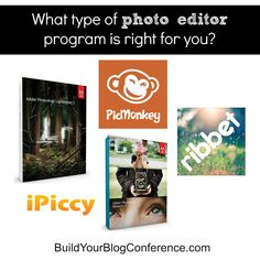 What type of photo editor is right for you? This information is good for students to know. They don't always have to use Photoshop so knowing about these other photo editors would be very useful.