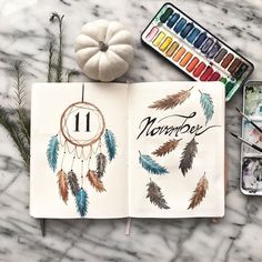 Discover over 40 bullet journal monthly cover ideas and plan your bullet journal monthly theme ahead. Here I gathered the best cover pages for a whole year. thme Bullet Journal Monthly Cover Ideas New Edition] - AnjaHome Bullet Journal Headers, Bullet Journal Cover Ideas, Bullet Journal Set Up, Bullet Journal Aesthetic, Bullet Journal Writing, Bullet Journal Layout, Journal Covers, Bullet Journal November Ideas, Autumn Bullet Journal