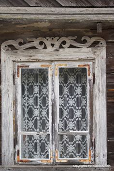 Wooden Architecture of Poland - Podlasie Voivodship. Ornamental window framing