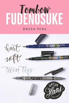 How To Make Letters, Alphabet, Tombow Brush Pen, Tombow Fudenosuke, Hand Lettering Tutorial, Bullet Journal 2019, Birthday Wishlist, School Supplies, Art Supplies
