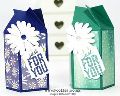 Stampin' Up! Demonstrator Pootles - Twist & Close Easy Delightful Daisy Box Click through for more details and video tutorial