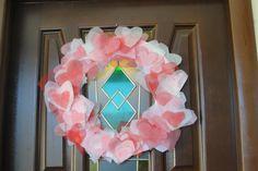 Valentine's Day wreath: flower felt