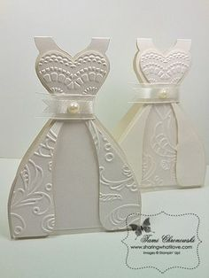 TUTORIAL - WEDDING DRESS CARD - Sharing What I Love