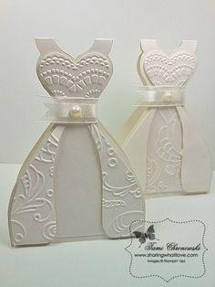 TUTORIAL - WEDDING DRESS CARD