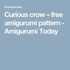 Curious crow – free amigurumi pattern - Amigurumi Today