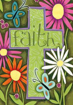 Faith Cross Outdoor Flag , 1918CDC | Lang