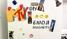 I turned my favorite emojis into DIY emoji magnets!