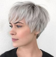 Pixie Haircuts for Thick Hair – 50 Ideas of Ideal Short Haircuts Choppy Pixie For Thick Coarse Hair Oval Face Haircuts Short, Pixie Haircut For Thick Hair, Messy Short Hair, Short Hairstyles For Thick Hair, Short Brown Hair, Short Hair With Bangs, Short Hair Cuts For Women, Hairstyles With Bangs, Curly Hair Styles