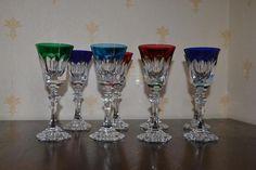 8 verres en cristal de Saint Louis Saint Louis, Flute, Wine Glass, Auction, French, Tableware, Cups, Objects, Home