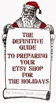 Dishfunctional Designs: The Definitive Guide To Preparing Your Etsy Shop For The Holidays