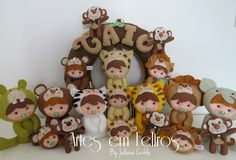 Kit Maternidade Baby Safari Caio - Artes em Feltros by Juliana Cwikla