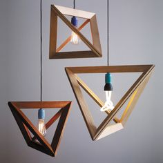 Hängelampen - Lampenrahmen Mahagoni 55 cm - ein Designerstück von herrmandel bei DaWanda