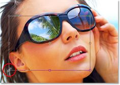 Adobe Photoshop - how to add reflections in sunglasses
