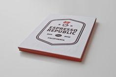 Espresso Republic letterpress business cards | Salih Kucukaga Design Studio