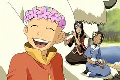 Aang is my sunshine. | Cave of Two Lovers | Book 2: Earth | The Last Airbender | Avatar | (gif)
