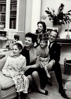 Judy Garland with her husband, Sid Luft, and children, Liza, Lorna and Joey, ca. 1961.
