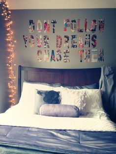 Definitely see one of our girls doing this for their rooms...really creative and it looks impressive!