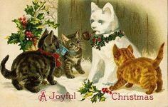 Victorian Cats Kittens | eBay: Vintage Christmas Cards
