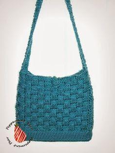 Peppermint Pear: Basket Weave Crochet Bag/Purse: FREE PATTERN