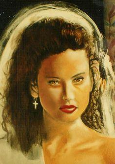 Detail. Jill, 5' x 5' Oil on canvas