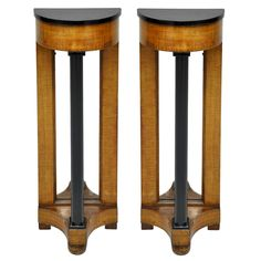 1stdibs | Pair of French Art Deco Demilune Console Tables
