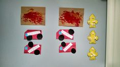 The infants!  Fingerpainting for fire.  Gluing together fire trucks and hydrants.