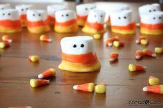 Candy corn marshmallow people