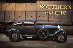 """1929 Bentley Speed Six Coupe """"Blue Train Bentley"""". 6.75 litre, twin-turbocharged V8 engine, 450bhp. Top speed: 168mph. 0-60 in 5.5 seconds. Famous for beating a train in a race from Cannes to Calais."""