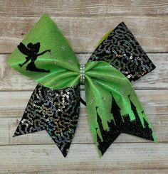 Hey, I found this really awesome Etsy listing at https://www.etsy.com/listing/505599781/tinkerbell-cheer-bow-disney-cheer-bow