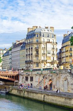 Quai Saint-Michel, Paris V...this looks like a beautiful painting....can't wait to see this in person!