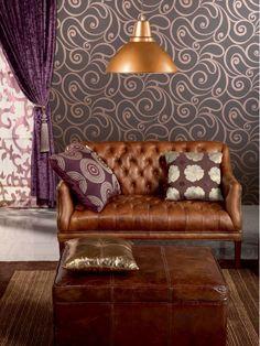 Comfy Eggplant Living Room Design   Shelterness