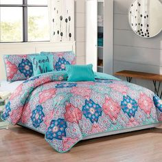 bungalow rose bindy 5 piece reversible quilt set size queen