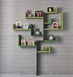 Family Tree ~ Creative way to display framed family photos... love!