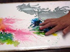using your hands with watercolor, controlling paint flow, chrysanthemum watercolor tutorial