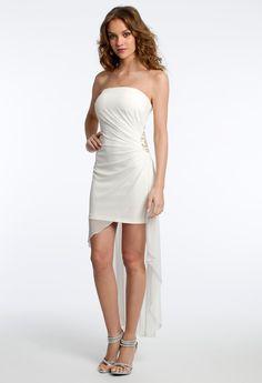 SHORT GLITTER HIGH-LOW DRESS